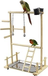 KAMA BRIDAL 二層 簡易 鳥遊び場 インコ ハムスター カゴ ケージ スタンド はしご 遊園地 秋千 食器 水器 ラダー ベル 鳥の巣 鳥栖 組み合わせ 支え 棚 台 原木
