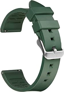 Afany Rubber Watch Band for Samsung Galaxy Watch 3 45mm/Galaxy Watch 46mm, 22mm Sport Replacement Bracelet Strap, Green, M...