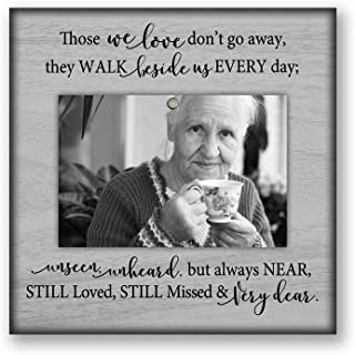Grief mourning picture frame, sympathy bereavement memorial gift, 8.5x8.5 inch desktop tabletop Gray51