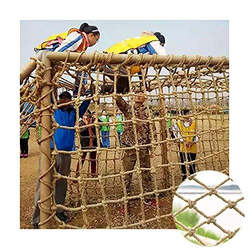Sicherheitsnetz für Kinder, dekoratives Netz, Balkontreppe, Dekoration, Retro, Wandmontage, Schutz (Farbe: Beige, 10 cm, Größe: 2 x 2 m)