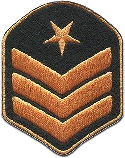 general de brigada Ejército insignias militares - Parches termoadhesivos bordados aplique para ropa, tamaño: 4,7 x 6,2 cm