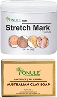 Ionule MSM Stretch Mark Cream with Australian Soap for Men and Women Combo Pack of 2 - (2 X 90 gm)