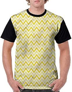 Trend t-Shirt,Caution Tapes Pattern Fashion Personality Customization