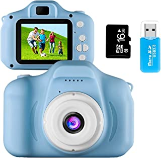 Coodoo Kids Camera Toys for 4-8 Year Old Boys Toddler Rechargeable Cameras with 2 Inch IPS Screen for Children Birthday Gi...