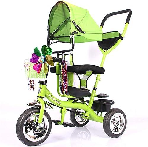 buen precio WYX-Trike Triciclo para Niños para Niños Niños Niños con Toldo Solar, Almacenamiento En La Parte Posterior Y Asa Extraíble para Los Padres,c  orden en línea