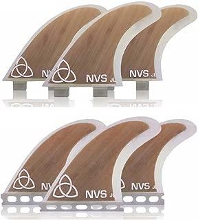 Naked Viking Surf Medium JL Thruster Surfboard Fins (Set of 3) FCS & Futures