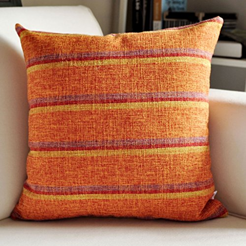 Xin Yu Yue Firm Streifen leinen Kissen Sofa Rückenlehne Büro Nacht Auto Tuch Taille Kissen (Farbe : 2, größe : 30 * 50cm)