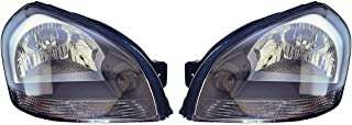 Fits Hyundai Tucson 05-08 Headlight Assembly Pair Driver and Passenger Side (NSF Certified)
