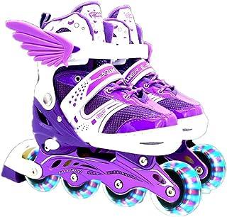 Patines en línea para niños y adultos, unisex, ajustables, patines para niños, ideal para principiantes, patines cómodos, patines en línea para niñas y niños