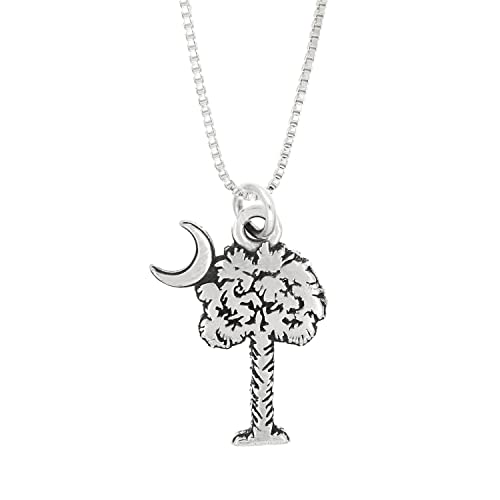 18 or 20 inch Rope Rembrandt Charms Sterling Silver Reno Charm on a 16 Box or Curb Chain Necklace