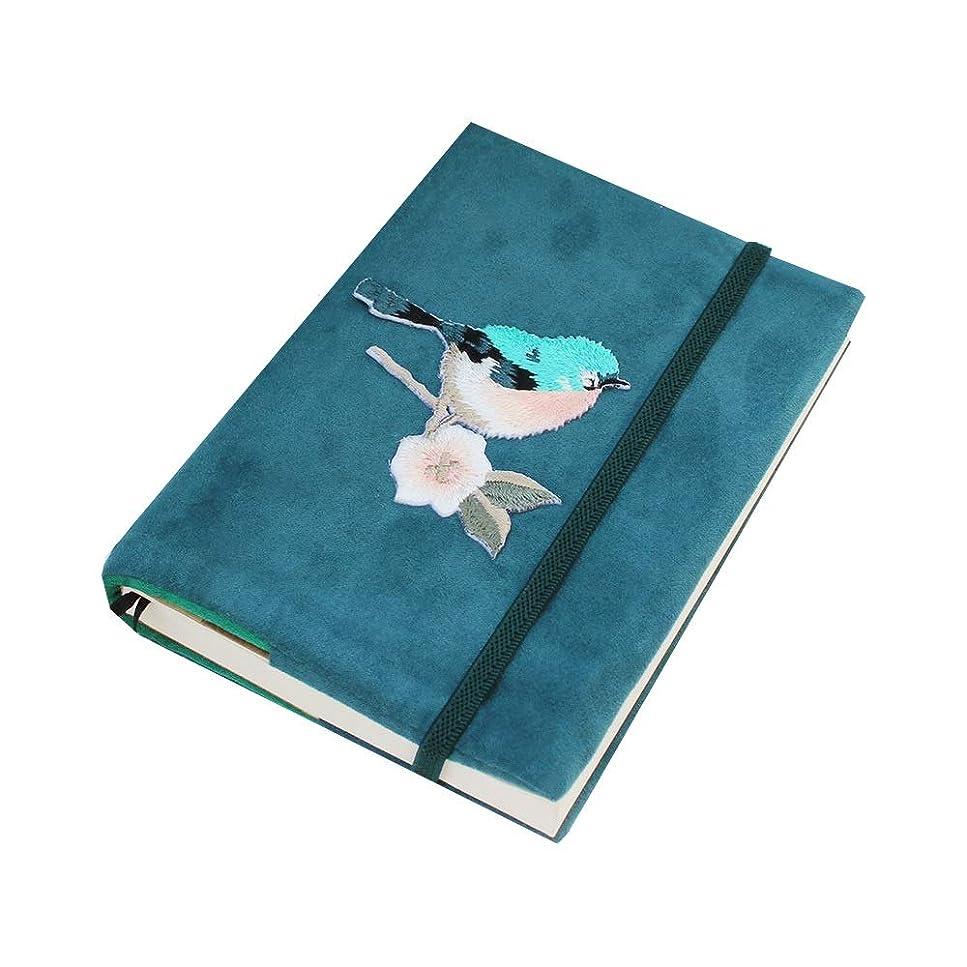 Panboys 絶妙なノートブックの本、花と鳥のさび図、高品質のファブリック、携帯用と汚い、文学的な本 顧客に愛されて (Size : A6)