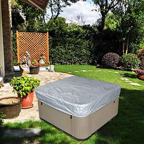 Afittel0 Cuadrado Caliente Bañera Cubierta, Impermeable Exterior SPA Funda Oxford Paño Y Plegable PVC Duro Cubierta Protector para hasta 215x70 CM - como Imagen Show, 215x70cm
