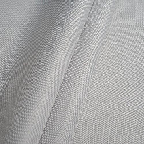 Erstklassiger Polyester Oxford 250D 1lfm - Wasserabweisend, Winddicht, Outdoor Stoff, Gartenmöbel Stoff (Hellgrau)