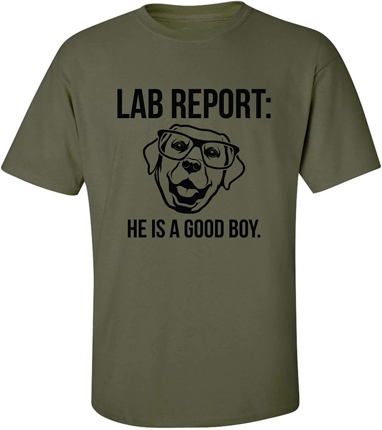 Lab Report Adult T-Shirt in Military Green - XXXXX-Large