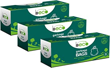 Beco Compostable Garbage Bags/Trash Bags/Dustbin Bags Small 17 X 19 Inches Pack of 3 (15 Pieces Each Pack)