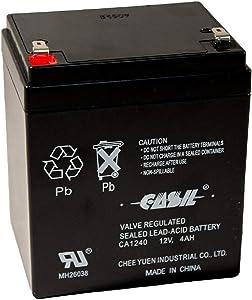 CASIL CA-1240 12V 4AH Alarm System Battery Back Up Vista 20P ADT
