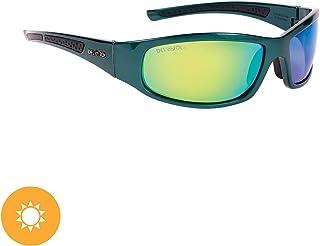 DelSol - Solize In My Life - Charcoal-Green - Lentes espejados polarizados verdes - Protege de los rayos UV - Cambia de carbón a verde a la luz del sol - 1 unidad