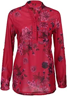 8b9c350503ebb wugeshangmao blouses Pullover for Women Blouse Long Sleeve S-5XL Lady  Floral Print Tops Sweatshirt