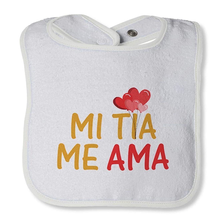 Mi Tia Me Ama Cotton Boys-Girls Baby Terry Bib Contrast Trim, One Size