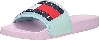 Tommy Hilfiger Translucent Flag Pool Slide Women's Fashion Sandals