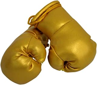Sportfanshop24 Mini Boxhandschuhe Gold, 1 Paar (2 Stück) Miniboxhandschuhe z. B. für Auto Innenspiegel