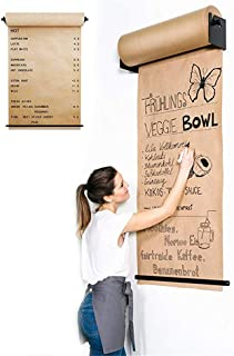 Reusable Kraft Paper Studio Wall Mounted Roller - Stylish Wall Paper Holder for Your Office, Cafe Or Home - Innovative Alternative to A Whiteboard, Flipchart Or Information Board,97cm