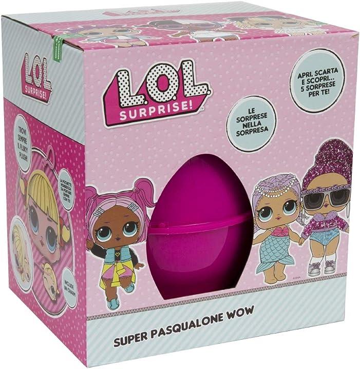 Pasqualone 2019 lol uovo, contenitore a forma di uovo con tante sorprese - giochi preziosi PA301000