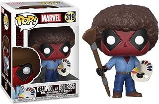 Funko POP! Marvel: Deadpool Playtime- Bob Ross, Funko POP! Vinilo., Estándar, Multicolor