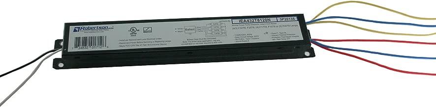 ROBERTSON 3P20135, IEA432T8120N /B Fluorescent eBallast for 4 F32T8 Linear Lamps, Instant Start, 120Vac, 60Hz, Normal Ballast Factor, NPF (Replaces Robertson Model ISL432T8120 /B)