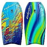 Wavestorm Foam Bodyboard 40' | Bodyboard for Beginners and All Surfing Levels | Complete 2 Pack Board Set Includes Leash, Multi