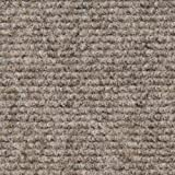 House, Home and More Indoor Outdoor Carpet with Rubber Marine Backing - Brown - 6 Feet x 15 Feet