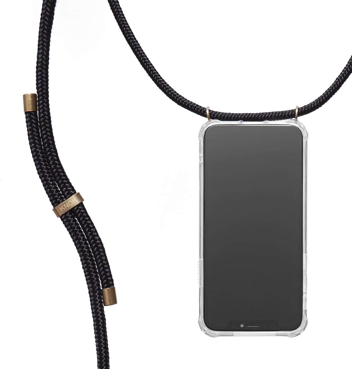 KNOK Case Carcasa de movil con Cuerda para Colgar iPhone 11 Pro MAX - Funda para iPhone/Samsung/Huawei con Correa Colgante - con Cordon para Llevar en el Cuello