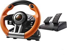 $99 » 180 Degree Dual-Motor Vibration Driving Gaming Racing Wheel with Responsive Pedals for PC/PS3/PS4/XBOX ONE/Switch PXN-V3II...