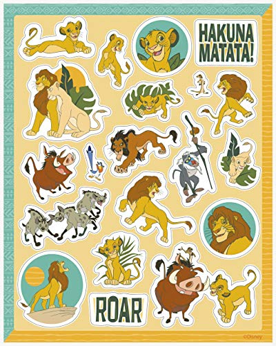 Unique Industries The Lion King Birthday Party Sticker Favors - 4 Sticker Sheets