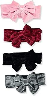 Stepping Stones Baby Girls' Velour Look 4-Pack Headband Set