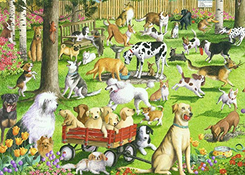 Ravensburger at The Dog Park Large Format 500 Piece Jigsaw Puzzle for Adults - Every Piece is Unique, Softclick Technology Means Pieces Fit Together Perfectly