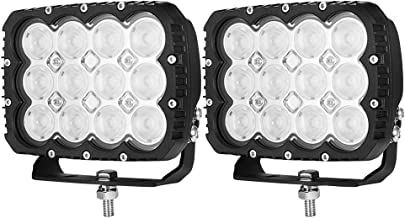 LIGHTFOX 6inch LED Work Driving Light Pair Flood Beam Lamp Reverse Offroad 4x4 3 Year Warranty