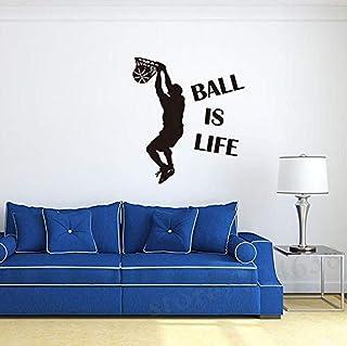 Dibujos Animados Baloncesto Niño Pegatinas De Pared Niños S Deportes Sala De Estar Dormitorio Arte Decoración De La Pared Decoración Del Hogar 88 5X43Cm