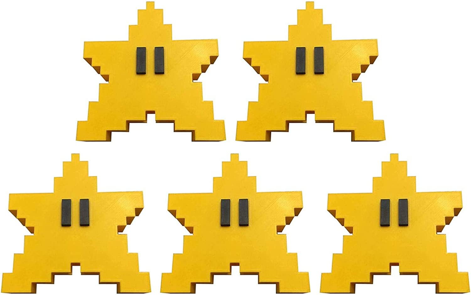 VAHIGCY 爆買い送料無料 Christmas Tree Toppers Topper Star Pixel 上質