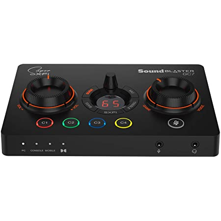 Creative Sound Blaster GC7 Game Streaming DAC Amp ft Programmable Buttons, Super X-Fi, 7.1 Virtual Surround, Battle Mode, Scout Mode, GameVoice Mix, for PC, PS4/PS5, Nintendo Switch, Xbox