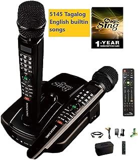 NEW ET23PRO Tagalog English Magic Sing WIFI Karaoke 12K English & 12 Months Subscription for English Tagalog Hindi Spanish Russian Vietnamese Japanese Korean songs & more