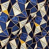 Swafing GmbH Viskose Jersey Dreiecke dunkelblau - Stoff -