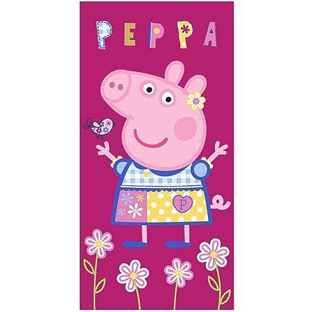 Theonoi Peppa Pig Wutz Kinder Handtuch Saunatuch Strandtuch Duschtuch Badetuch 70 x 140 cm Geschenk M/ädchen Mikrofaser