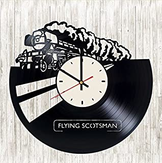 Flying Scotsman Vinyl Wall Clock Train Unique Gifts Living Room Home Decor