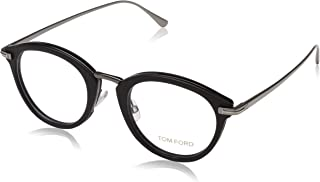 FT 5497 002 Black Plastic Oval Eyeglasses 48mm