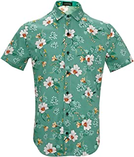 Hawaiian Shirt Men's Tropical Fruit Short Sleeve Shirt...