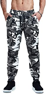 AIMPACT Men's Chino Jogger Pants Casual Fitted Cotton Camo Twill Jogging Trouser