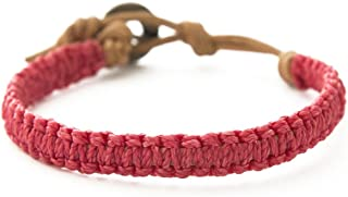 Wakami Handmade Braided Bracelet | Summer Bracelet, Leather & String Bracelet | Wax Coated String, 7.5in, Waterproof, | Fa...