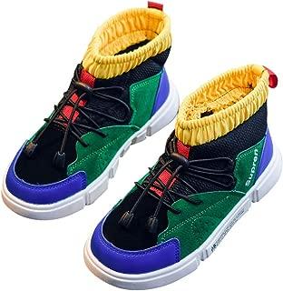 Hopscotch Boys and Girls PU High Top Shoes - Green