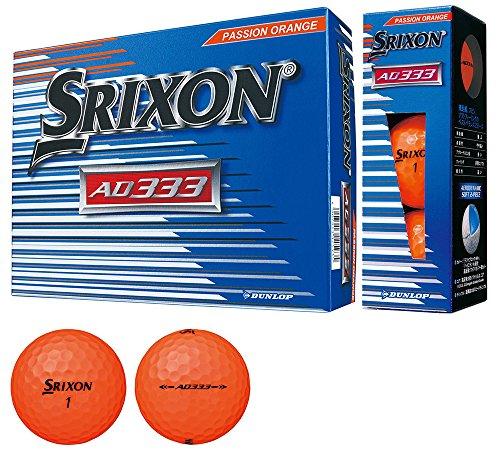 Dunlop (Dunlop) Golfball SRIXON AD333 2018 Modelljahr 1 Dutzend (12 Stück) Passion Orange